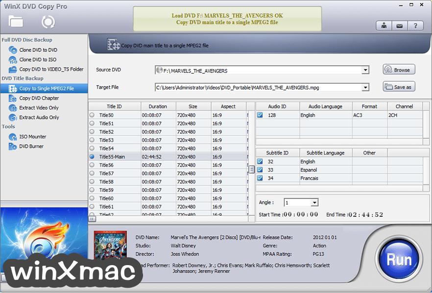 WinX DVD Copy Pro Screenshot 3