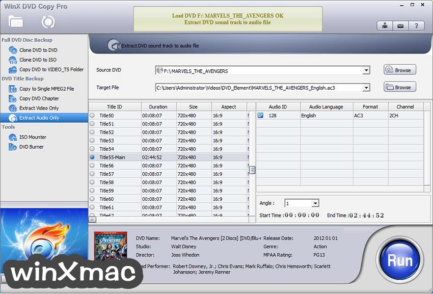 WinX DVD Copy Pro Screenshot 5