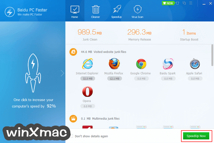 Baidu PC Faster Screenshot 2