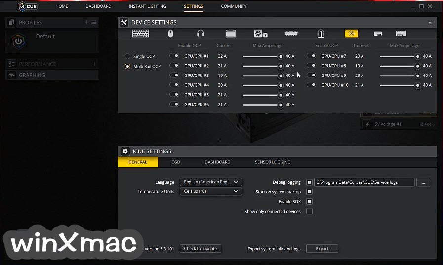 Corsair Utility Engine - iCUE Screenshot 2
