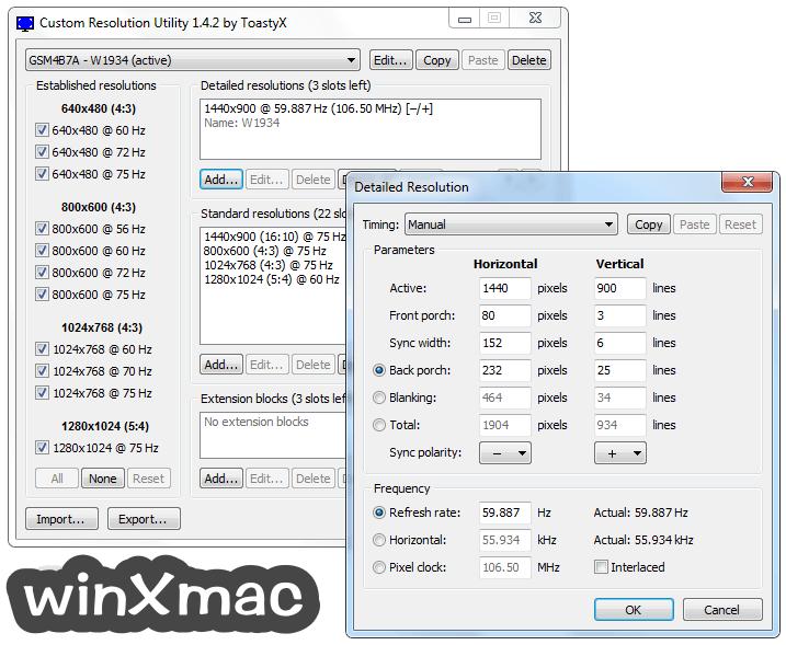 Custom Resolution Utility - CRU Screenshot 3