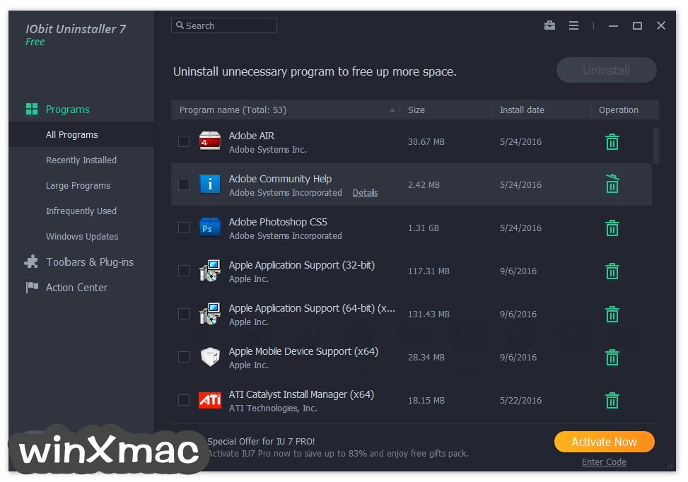 IObit Uninstaller Screenshot 1