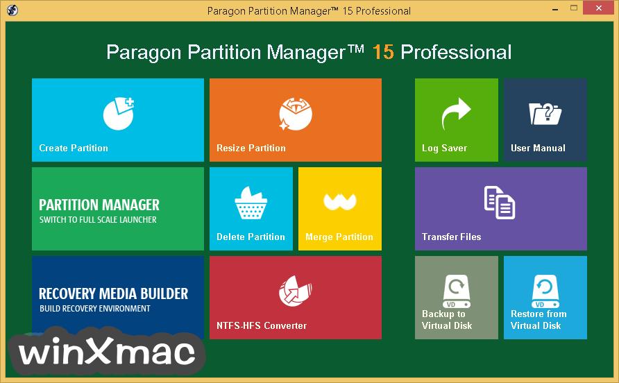Paragon Partition Manager Professional (64-bit) Screenshot 1