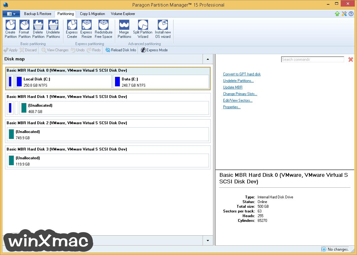 Paragon Partition Manager Professional (64-bit) Screenshot 2