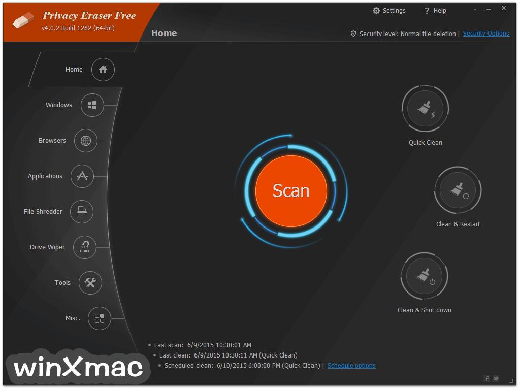 Privacy Eraser Free Screenshot 1