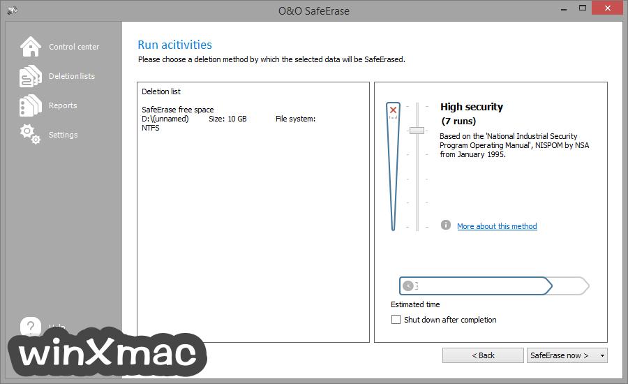 O&O SafeErase Professional Edition (32-bit) Screenshot 3