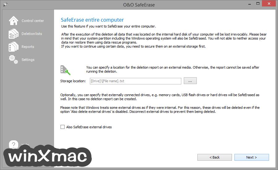 O&O SafeErase Professional Edition (32-bit) Screenshot 4