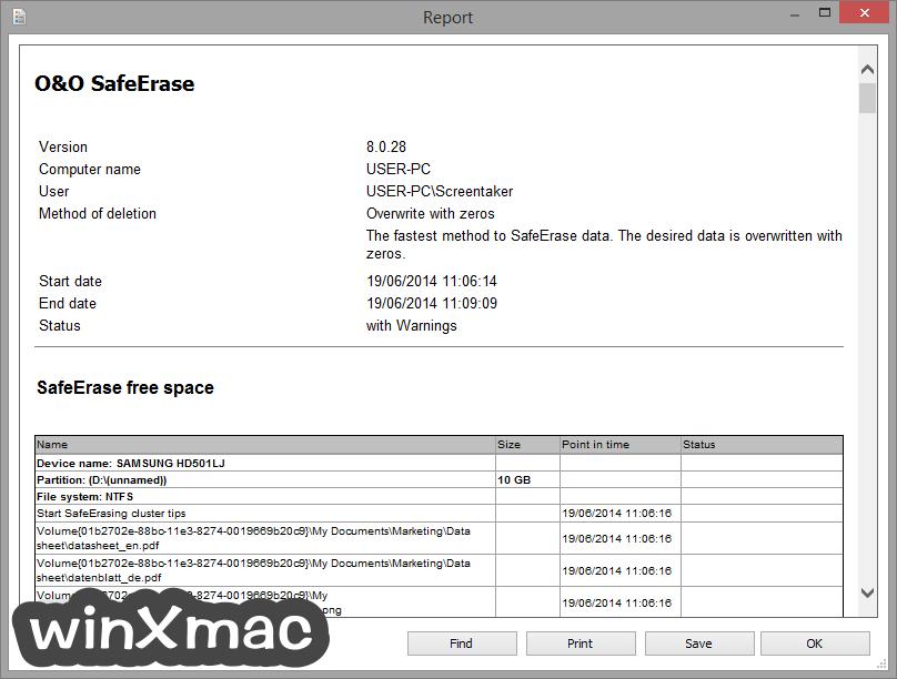 O&O SafeErase Professional Edition (32-bit) Screenshot 5