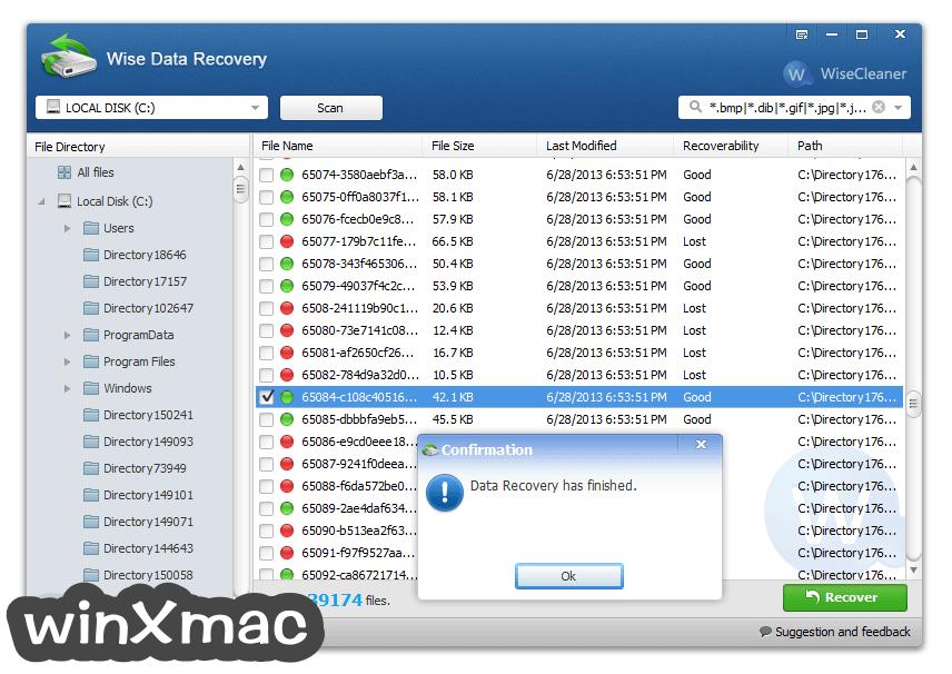 Wise Data Recovery Screenshot 3
