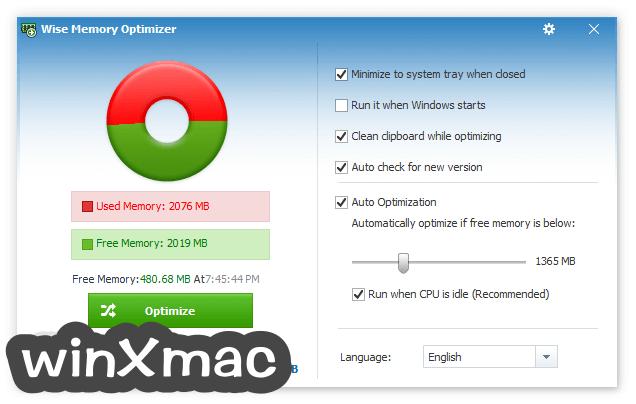 Wise Memory Optimizer Screenshot 2