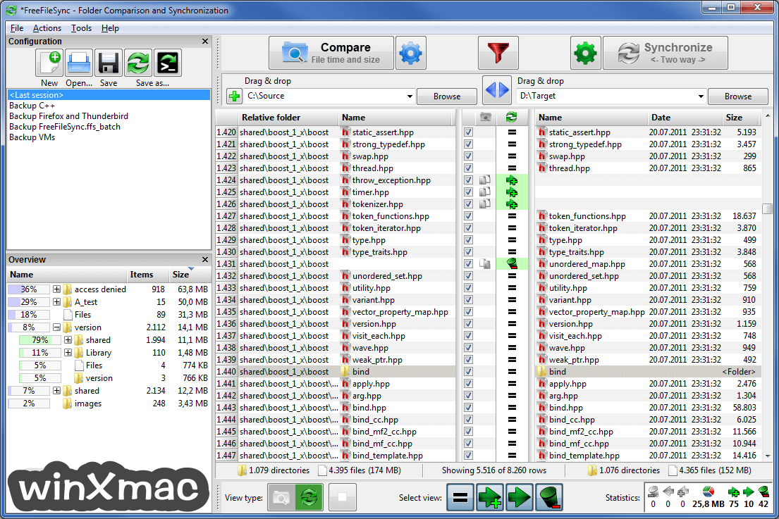 FreeFileSync Screenshot 1