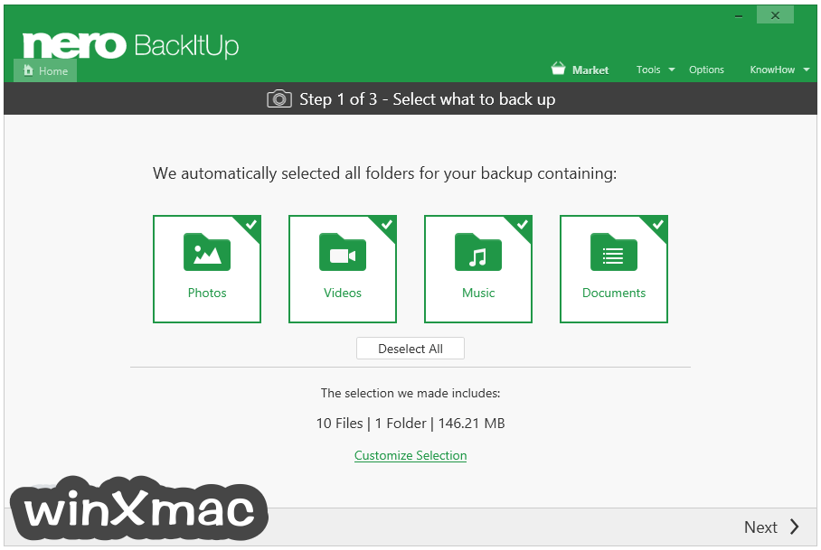 Nero BackItUp Screenshot 3