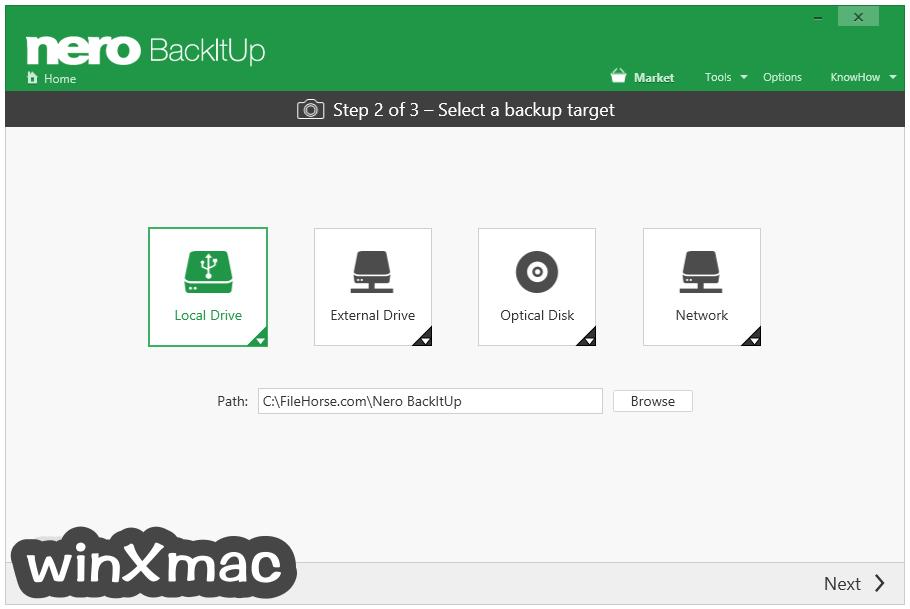 Nero BackItUp Screenshot 4