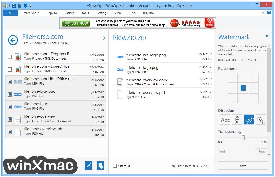 WinZip (64-bit) Screenshot 3