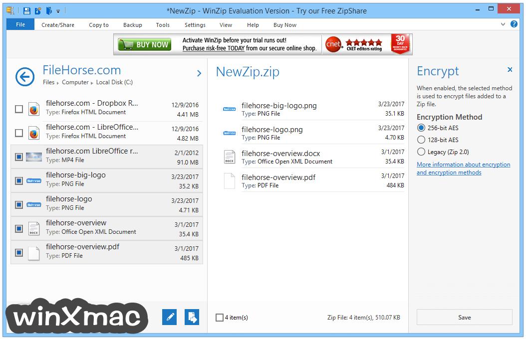 WinZip (64-bit) Screenshot 4