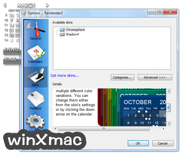 Rainlendar Lite (64-bit) Screenshot 5