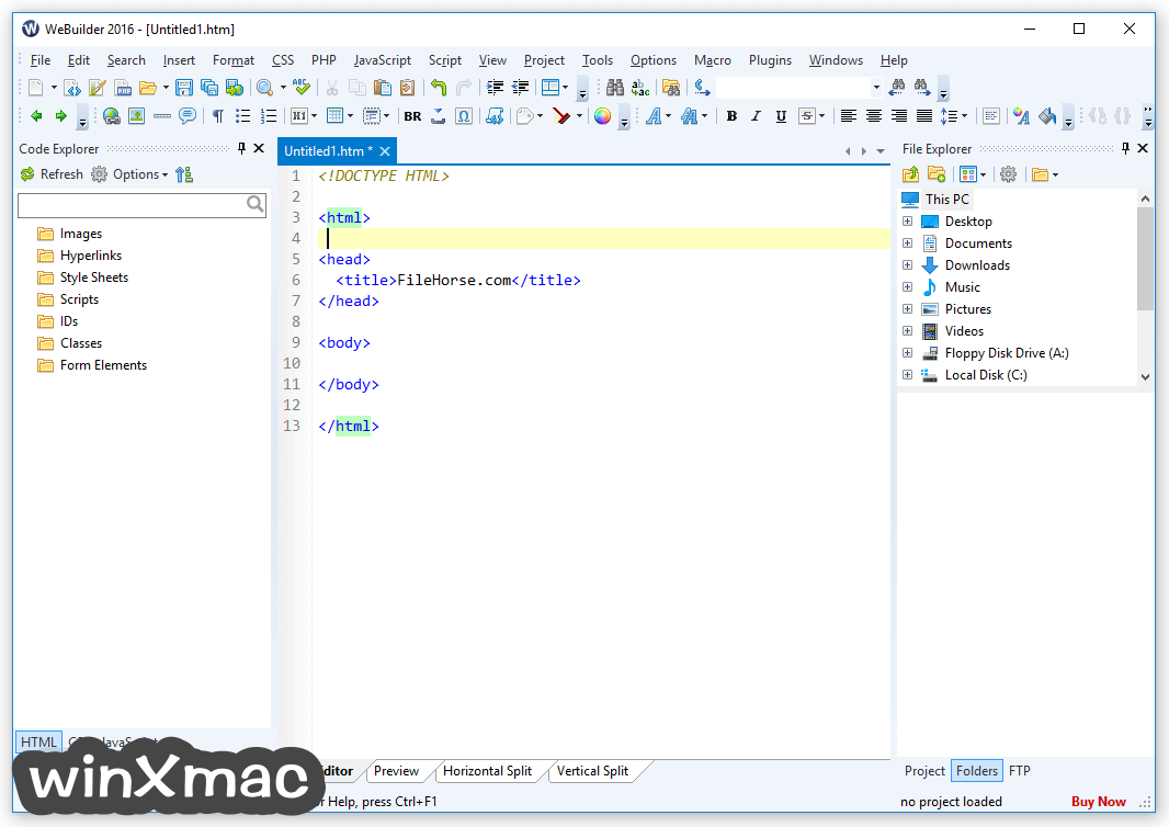 WeBuilder Screenshot 1