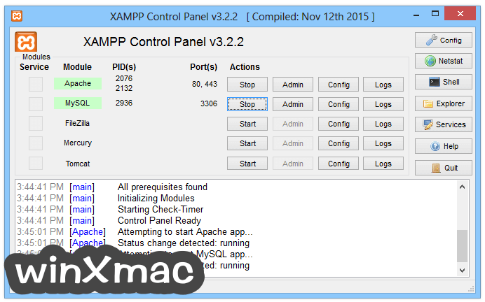 XAMPP Screenshot 1