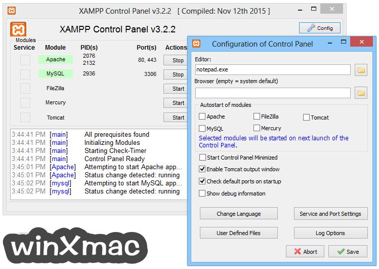 XAMPP Screenshot 2