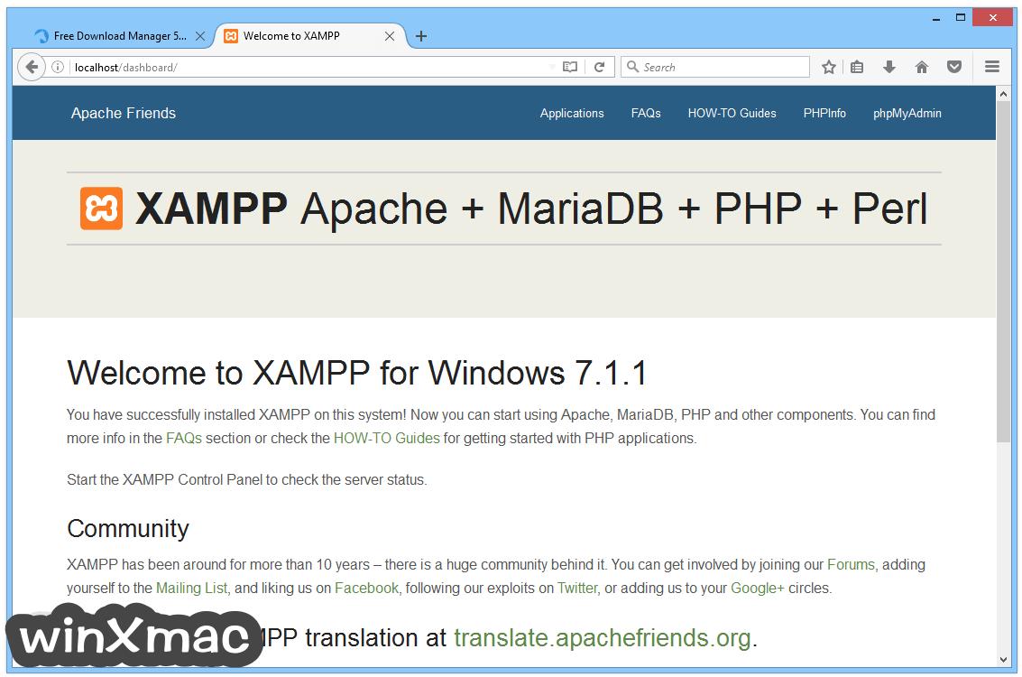 XAMPP Screenshot 4
