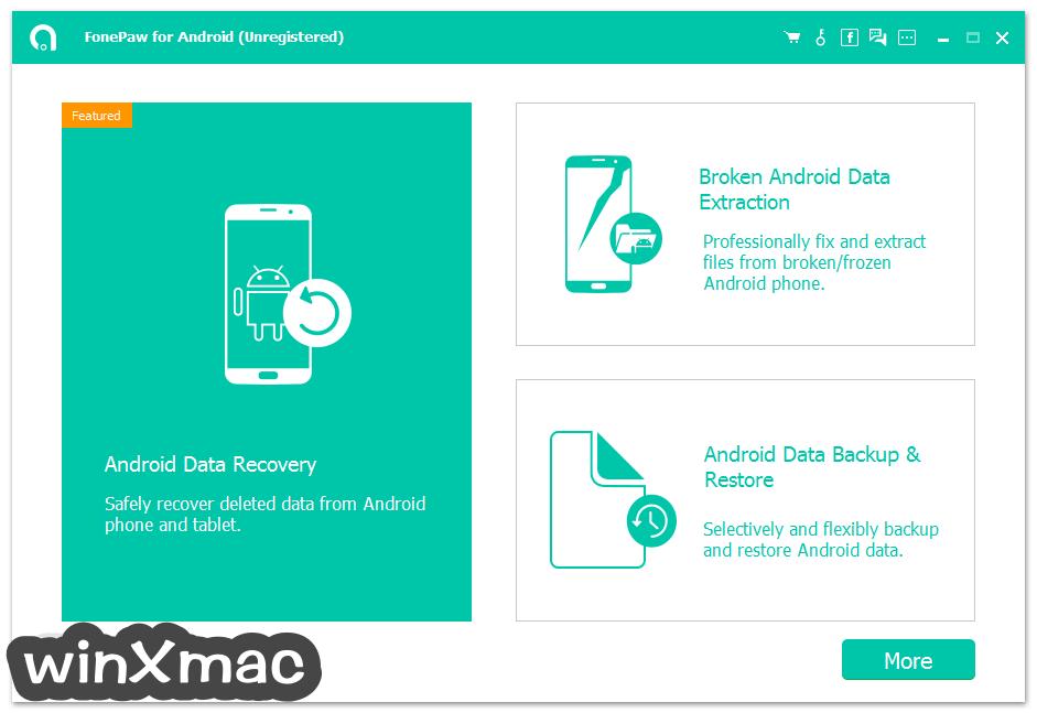 FonePaw Android Data Recovery Screenshot 1