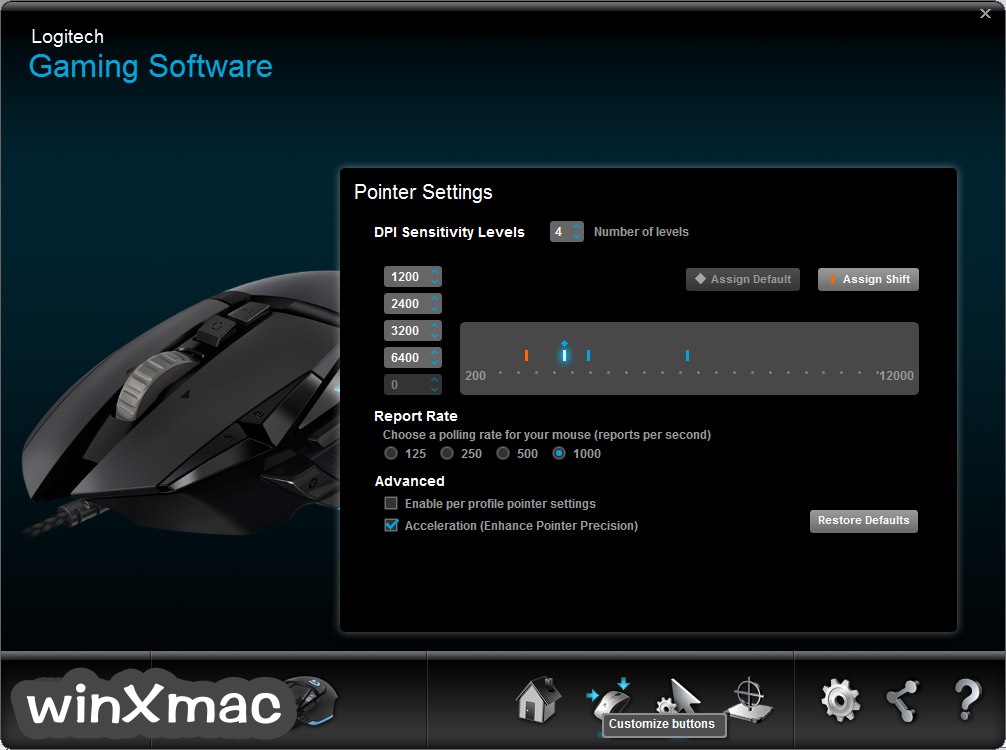 Logitech Gaming Software (32-bit) Screenshot 1