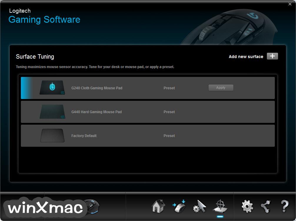 Logitech Gaming Software (32-bit) Screenshot 2