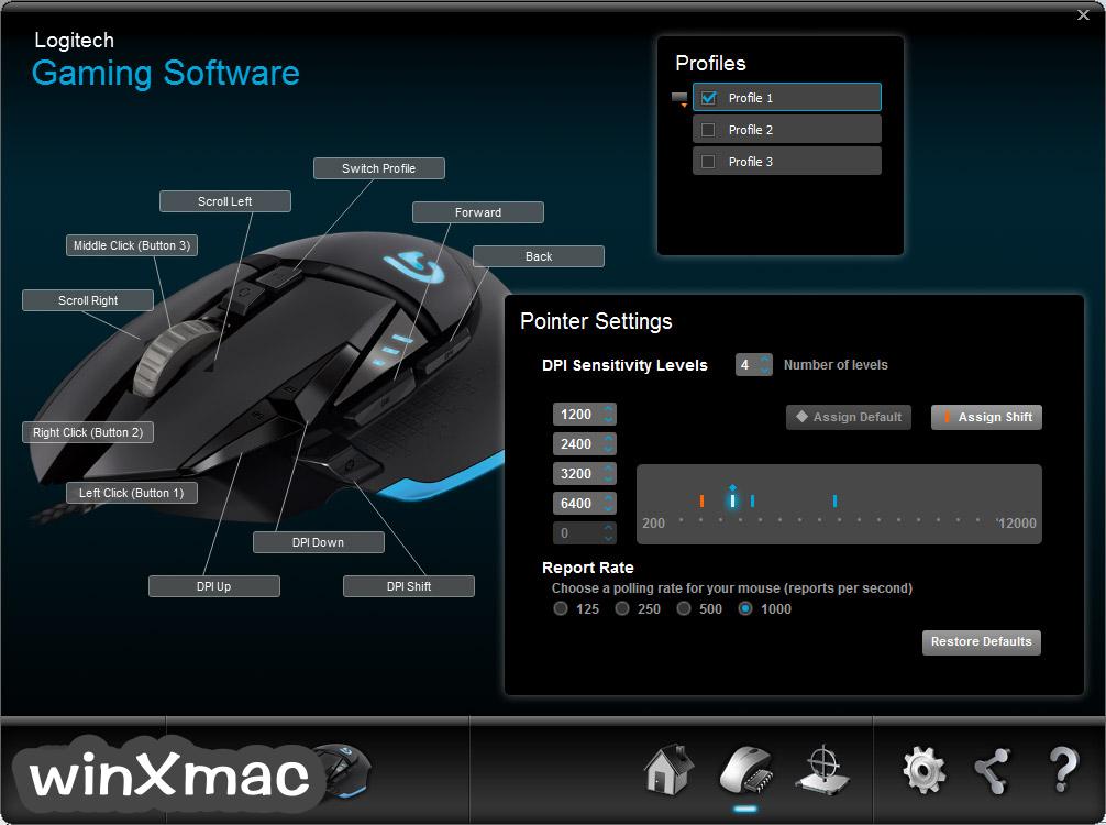 Logitech Gaming Software (32-bit) Screenshot 4