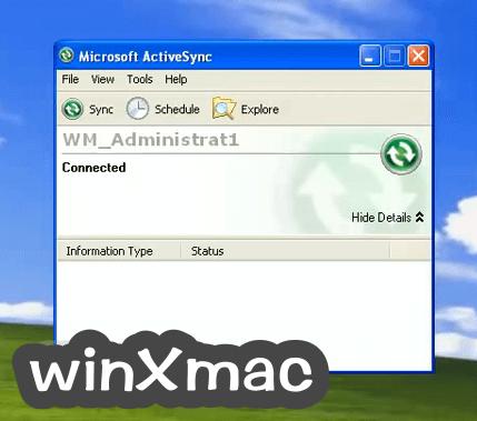 Microsoft ActiveSync Screenshot 1