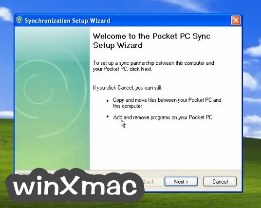 Microsoft ActiveSync Screenshot 3