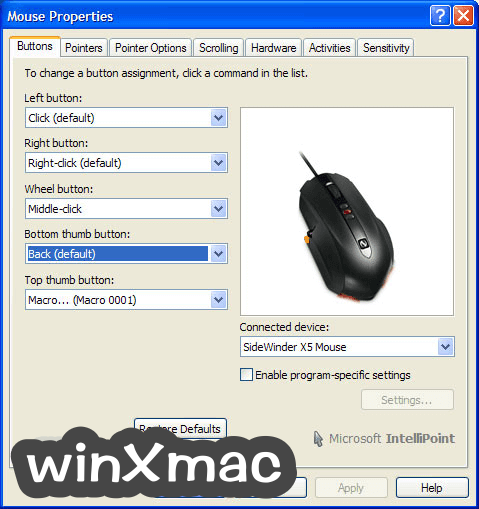 IntelliPoint Screenshot 1