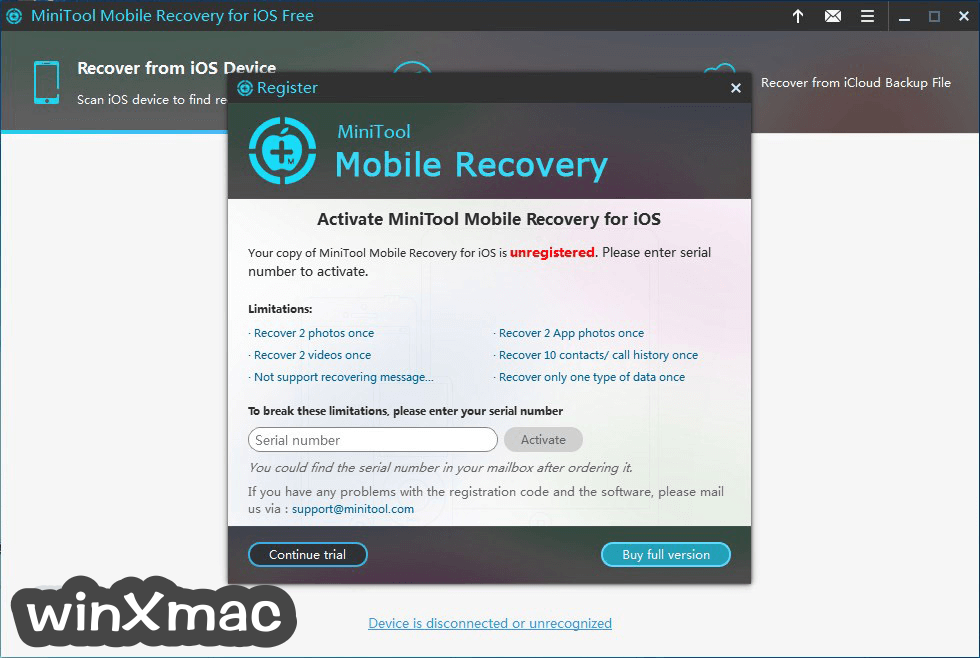 MiniTool Mobile Recovery for iOS Screenshot 5