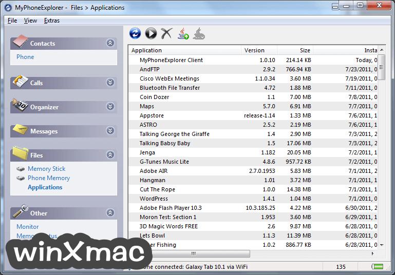 MyPhoneExplorer Screenshot 1