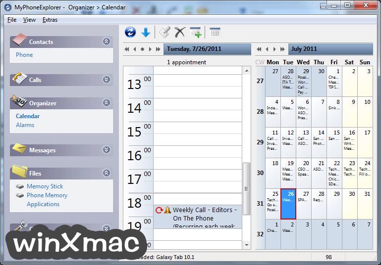 MyPhoneExplorer Screenshot 2