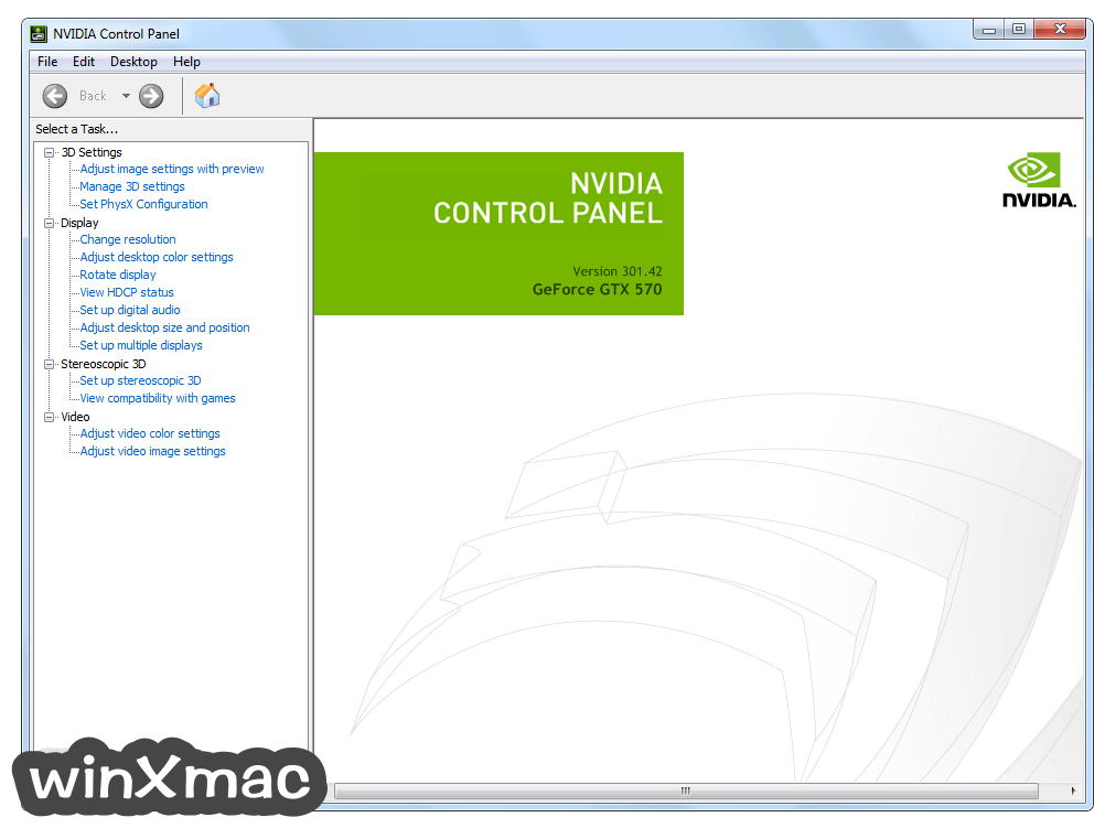 NVIDIA Forceware (XP 32-bit) Screenshot 1
