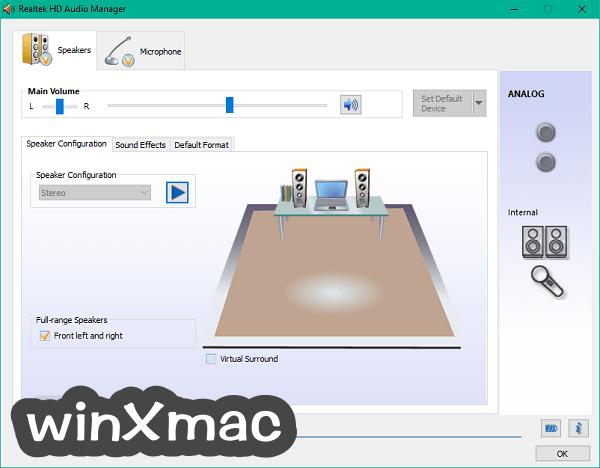 Realtek High Definition Audio (32-bit) Screenshot 1