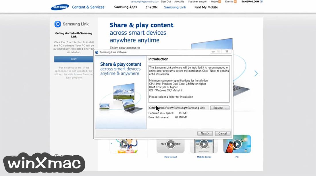 Samsung Link (32-bit) Screenshot 1