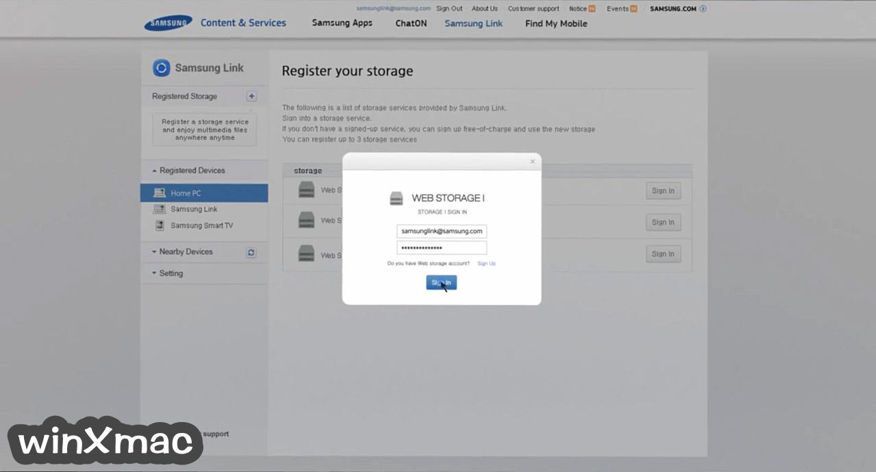 Samsung Link (32-bit) Screenshot 3