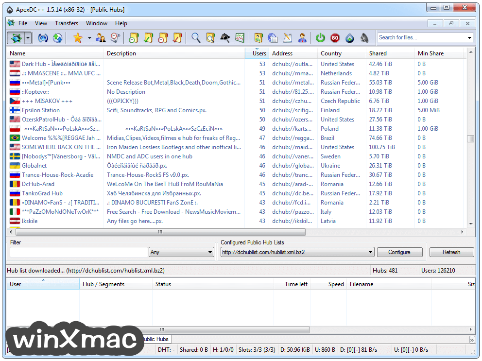 ApexDC++ Screenshot 3