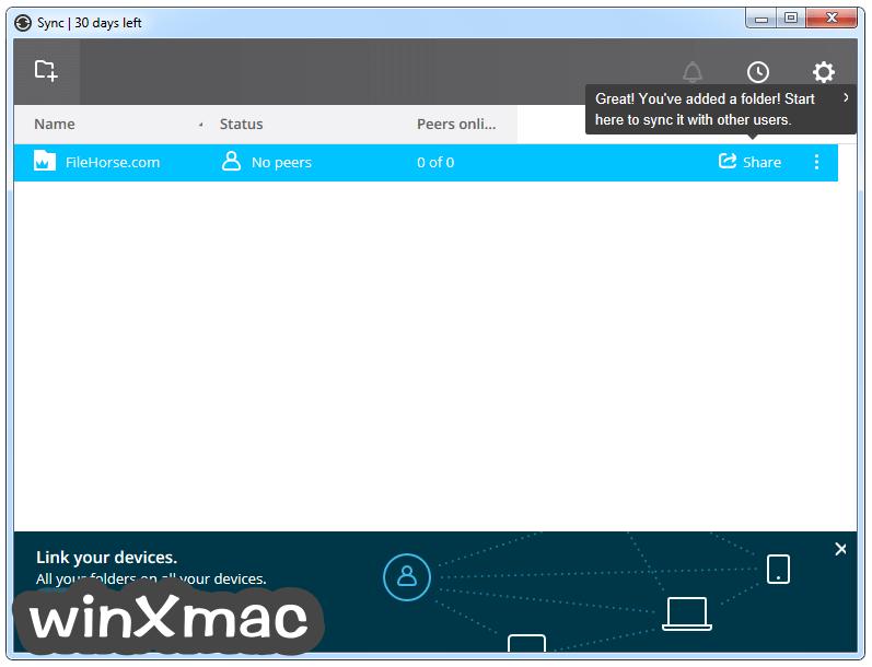 Resilio Sync (64-bit) Screenshot 1