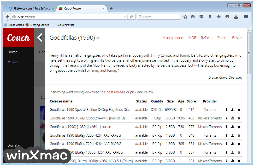 CouchPotato Screenshot 3