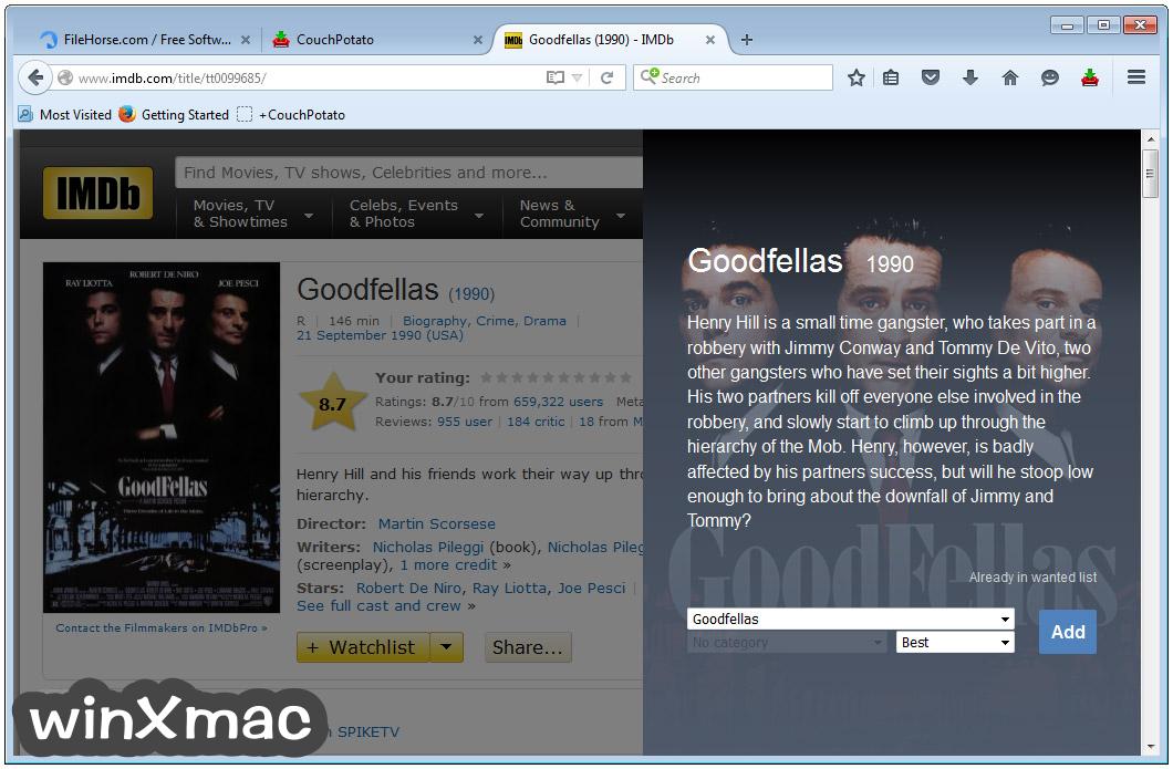 CouchPotato Screenshot 4