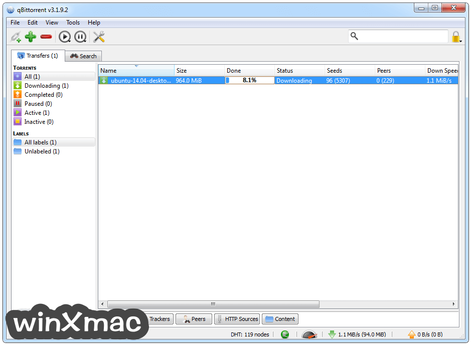 qBittorrent (32-bit) Screenshot 1