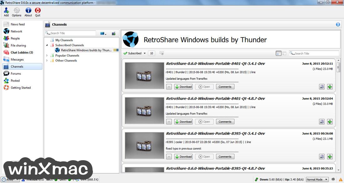 RetroShare Screenshot 2
