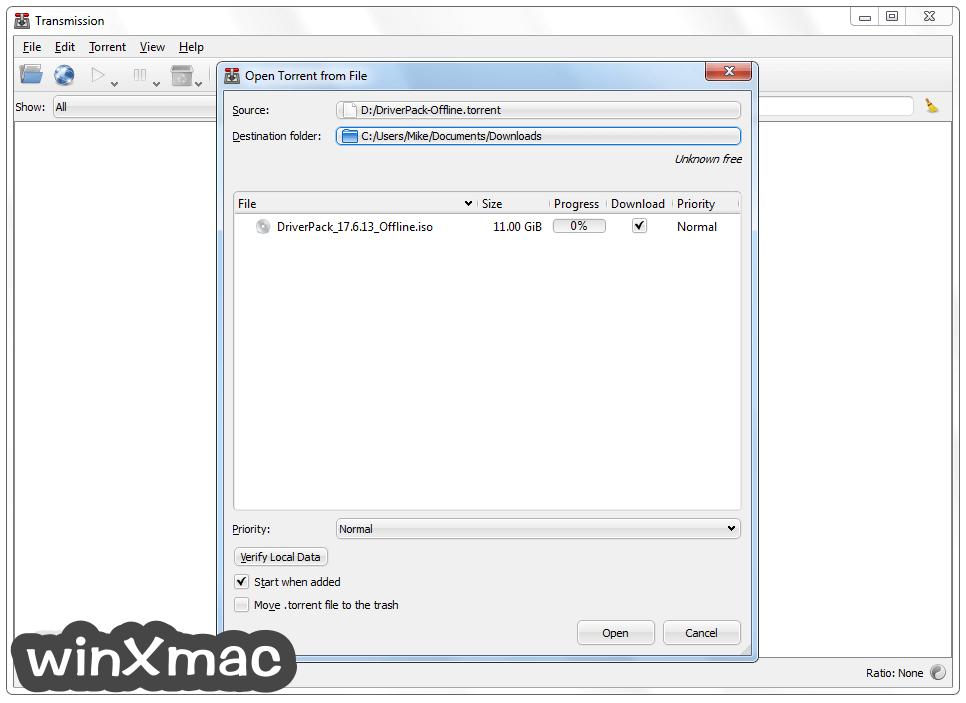 Transmission-Qt (32-bit) Screenshot 2