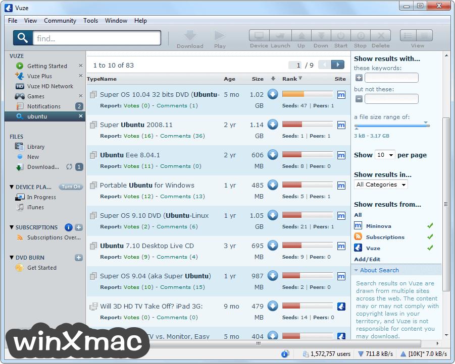 Vuze (32-bit) Screenshot 2