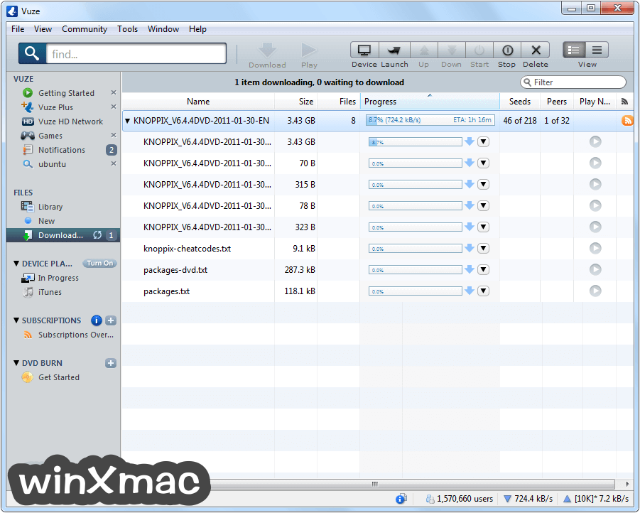 Vuze (32-bit) Screenshot 3