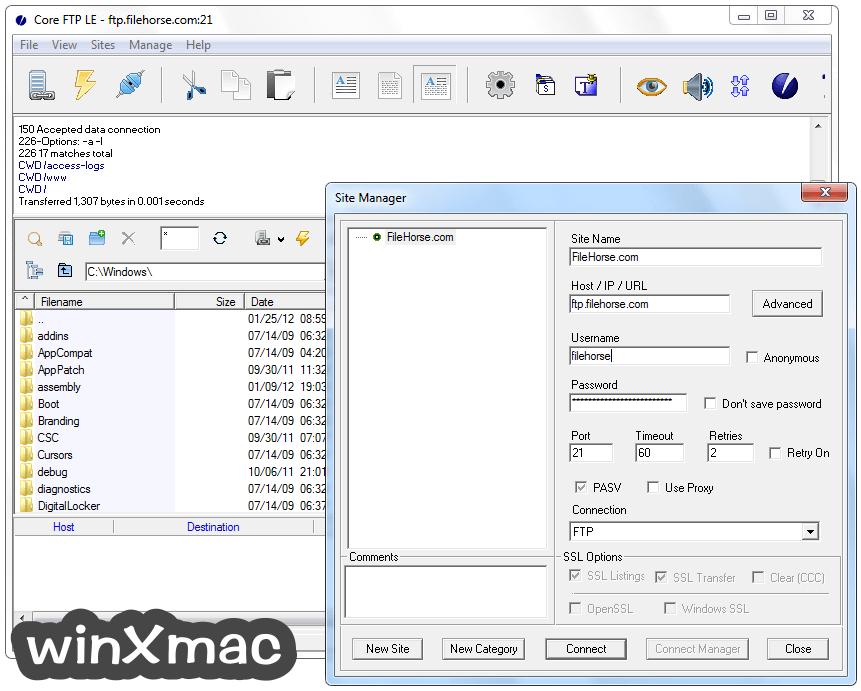 Core FTP (64-bit) Screenshot 2