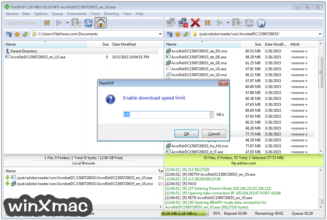 FlashFXP Screenshot 3