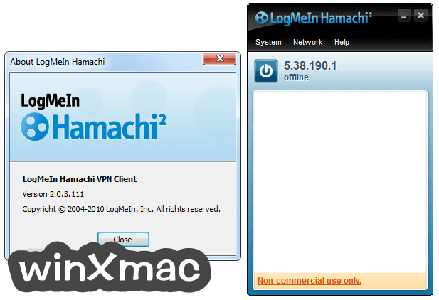LogMeIn Hamachi Screenshot 1